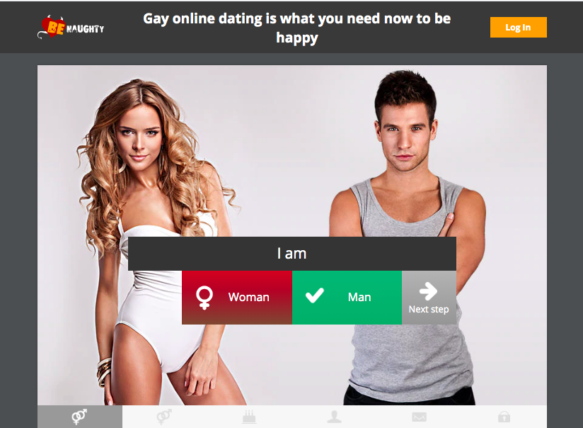 BeNaughty main page for gay